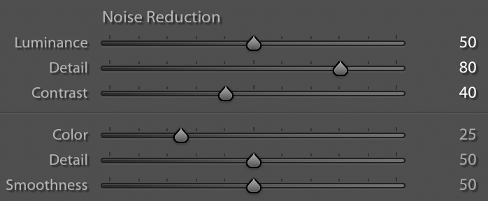 Lightroom noise reduction sliders mastering noise reduction