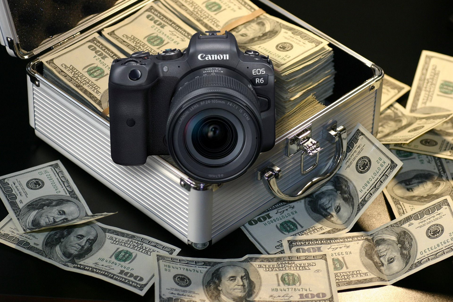 camera on money