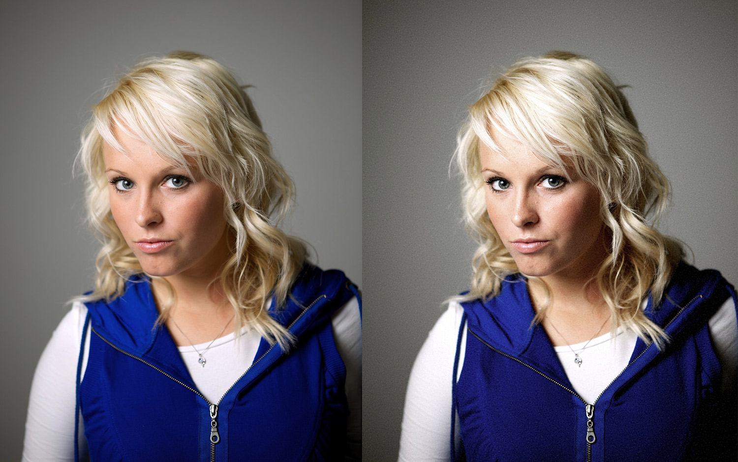 a comparison of before and after editing using PhotoDiva