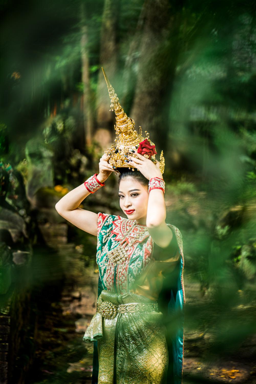 Thai dancer framed