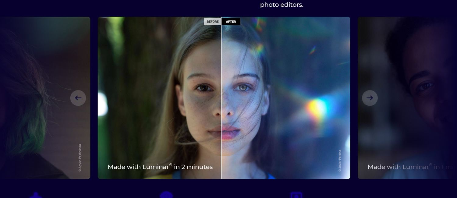 Luminar AI is the world's first completely AI-powered photo editor