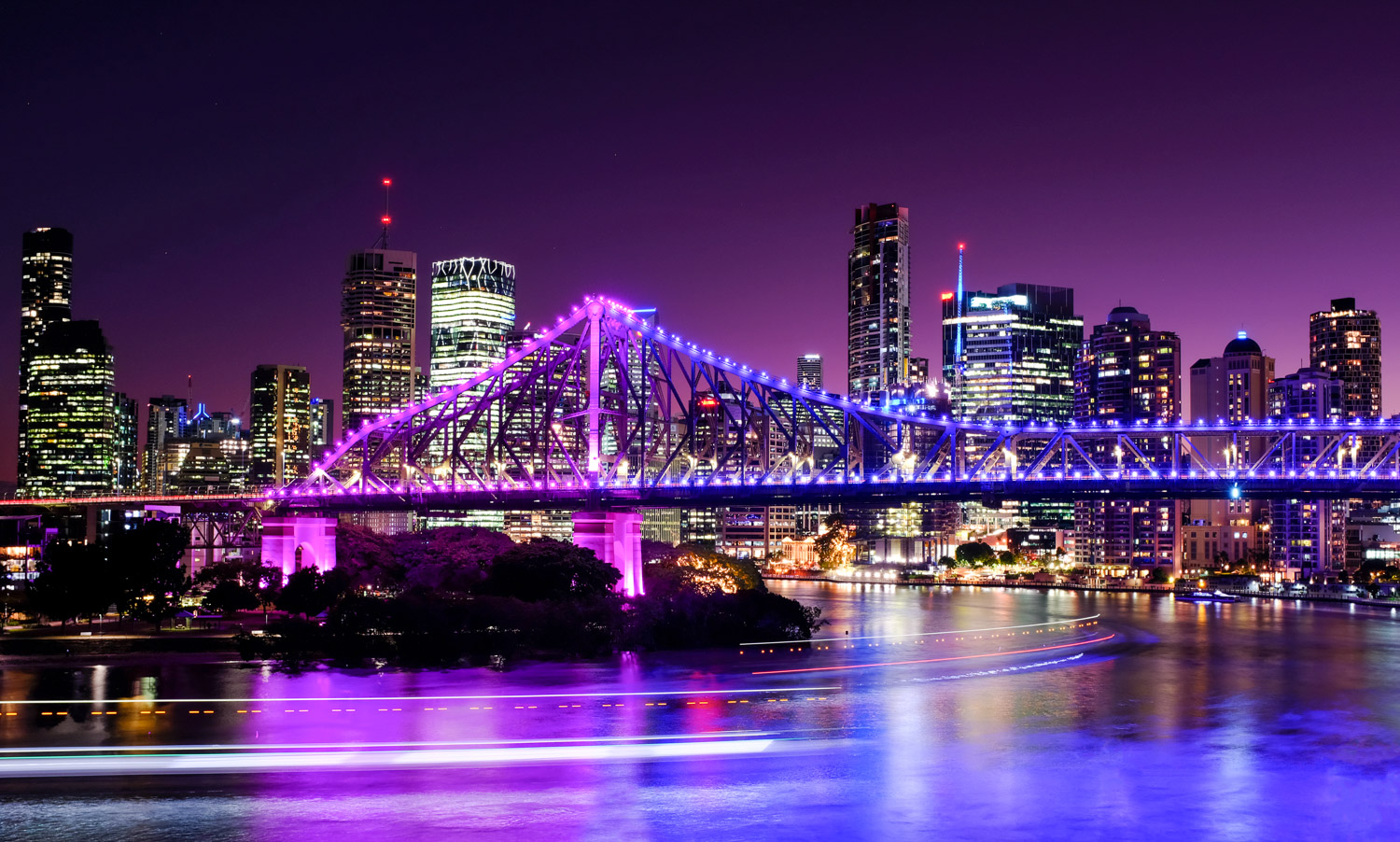 Brisbane at night by Matt Murray