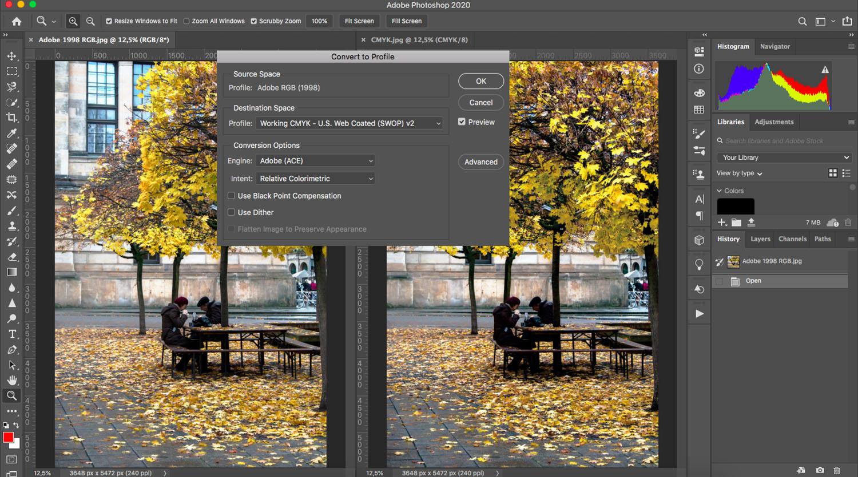 Photoshop color profile