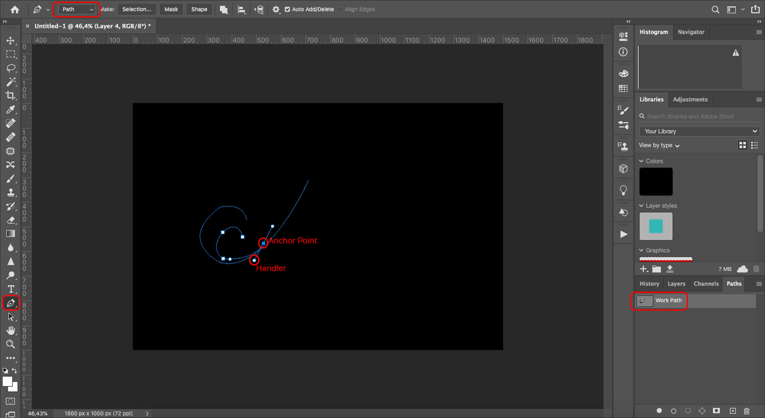 Create a watermark using the pen tool in Photoshop
