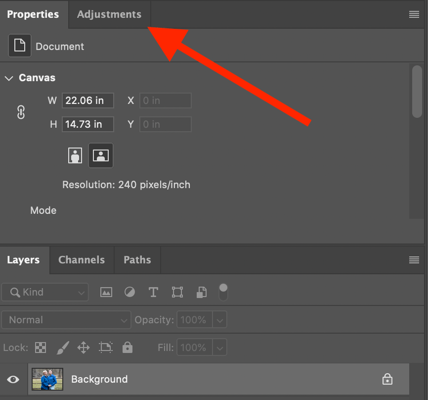 Photoshop adjustment layers