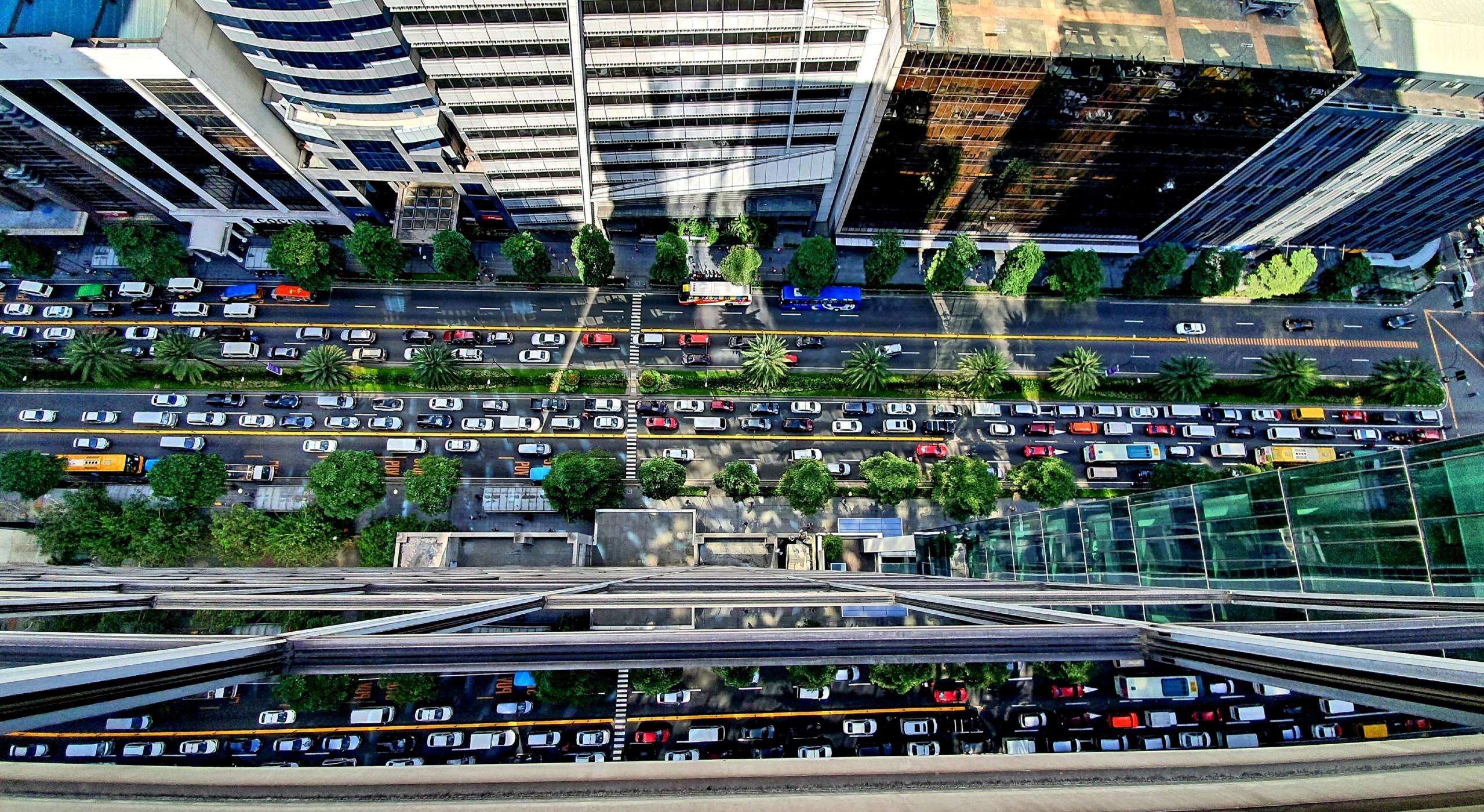 paisagem urbana olhando para baixo
