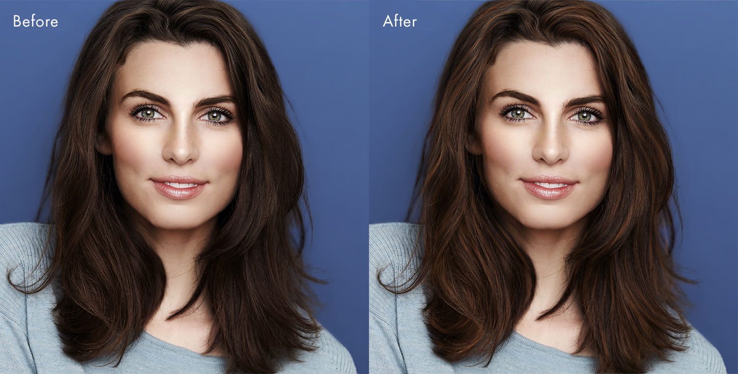Hair highlights in PortraitPro 21