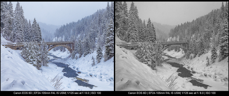 uma ponte na neve