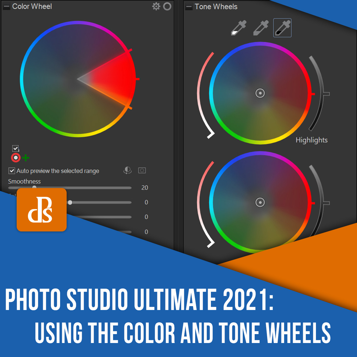 ACDSee Photo Studio Ultimate Color and Tone Wheels