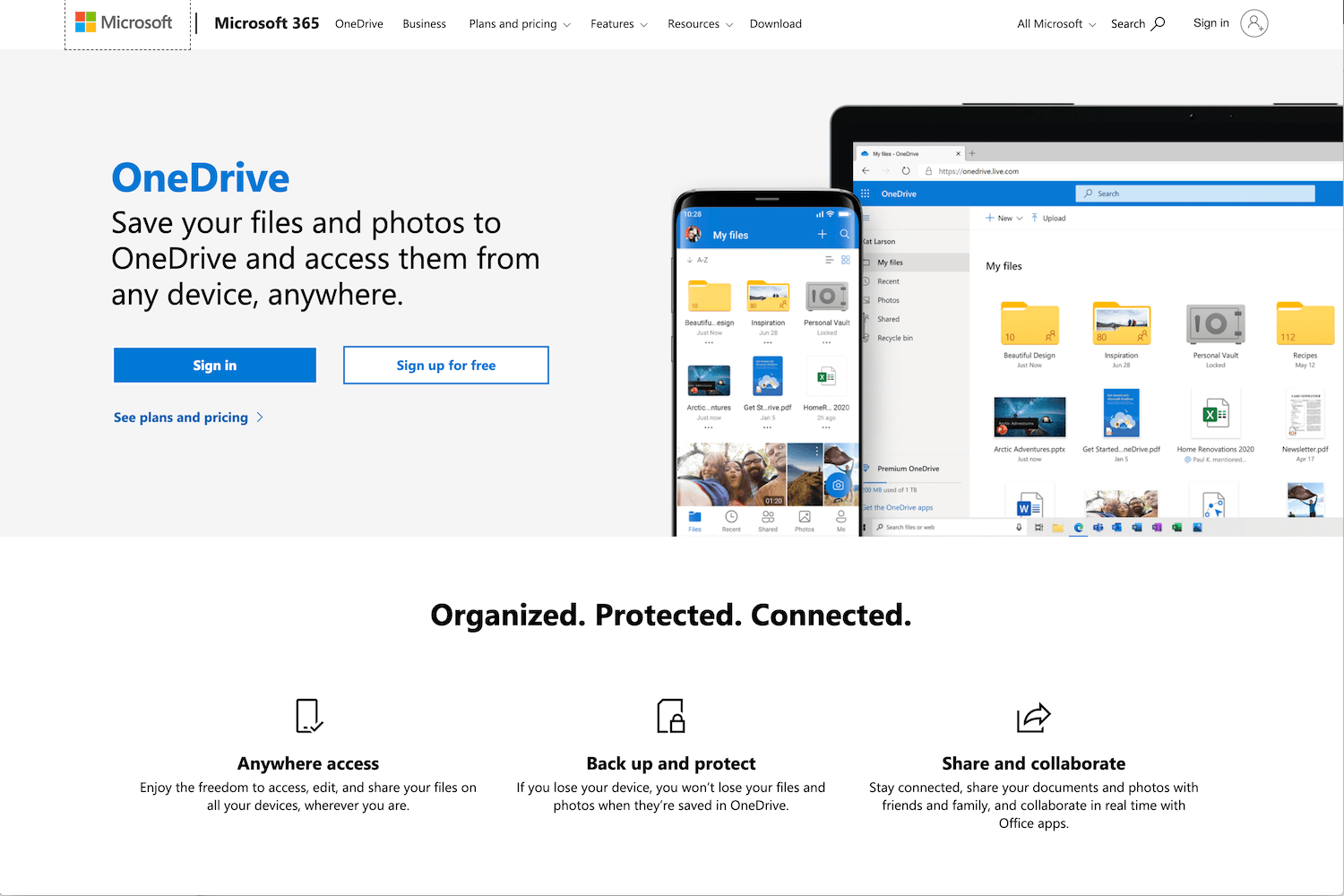 Best Online Photo Storage Microsoft OneDrive
