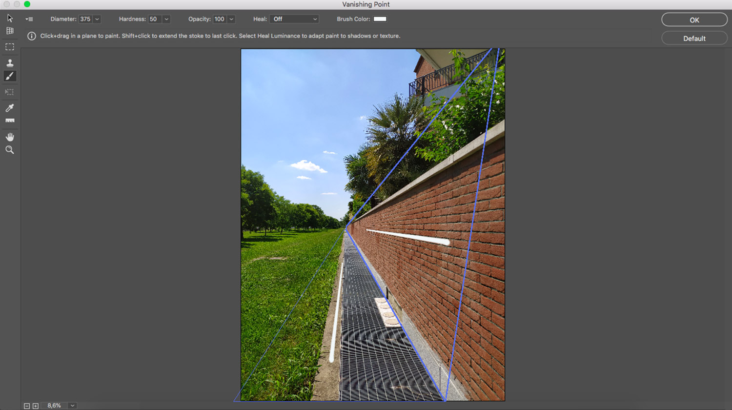 Paint in Vanishing Point in Photoshop