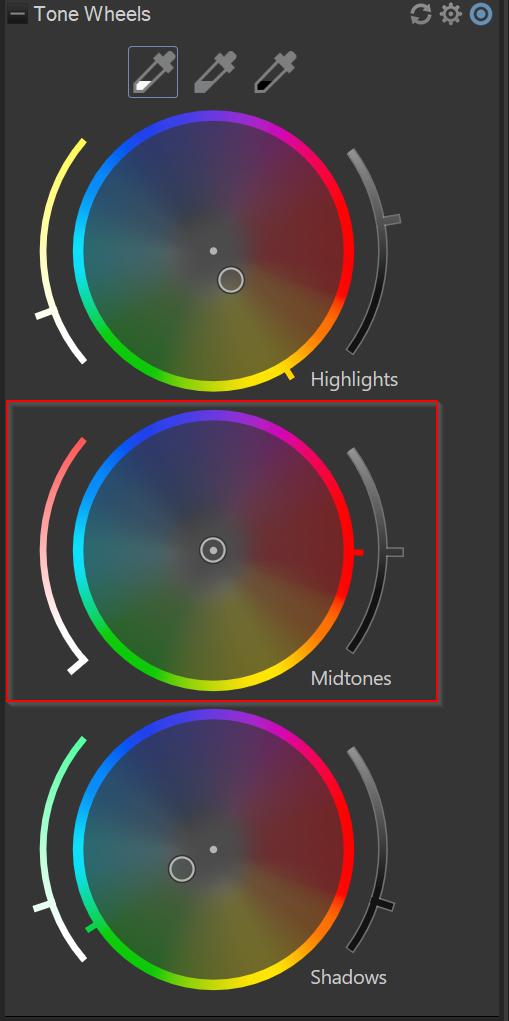midtones color wheel