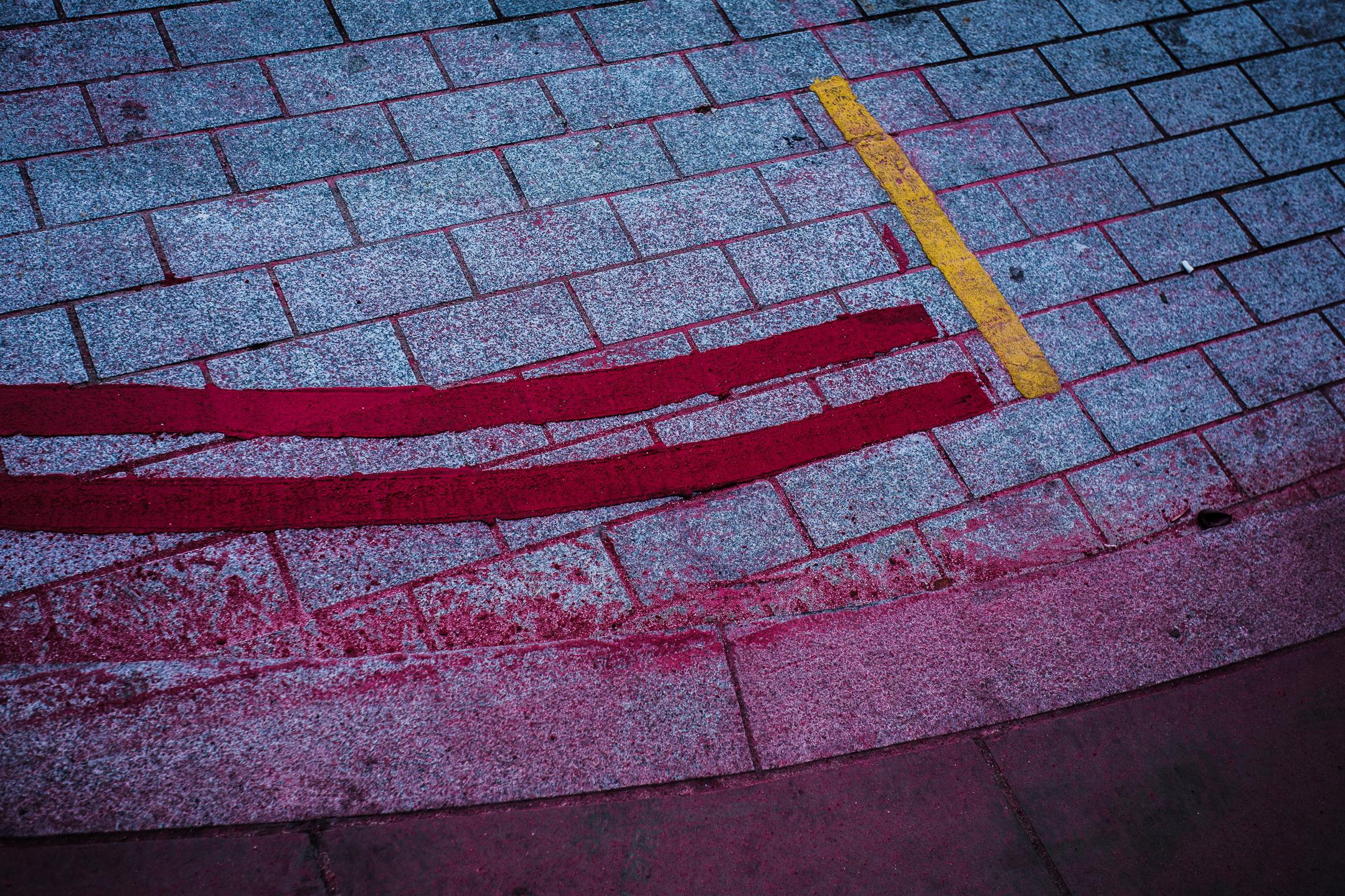 colors on cobblestones