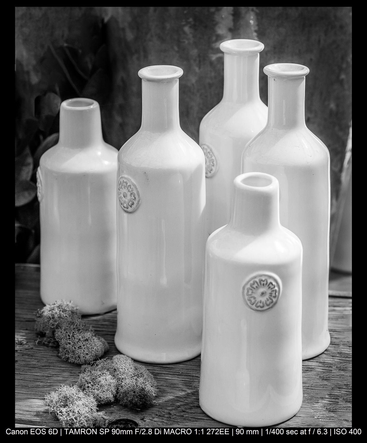 the rule of odds in photography - five bottles