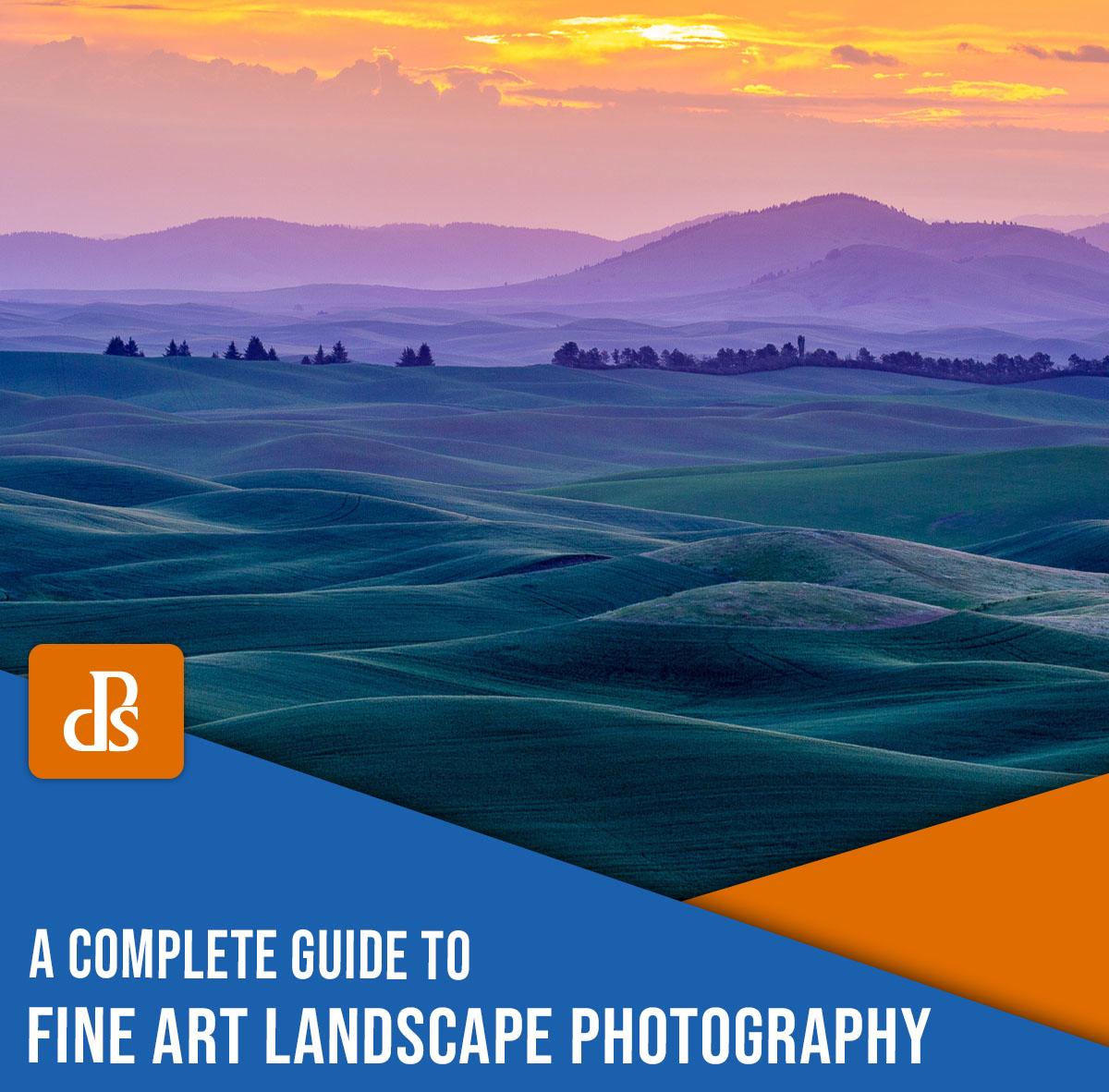 Fine Art Landscape Photography - A incrível cor de um nascer do sol na zona rural de Palouse.