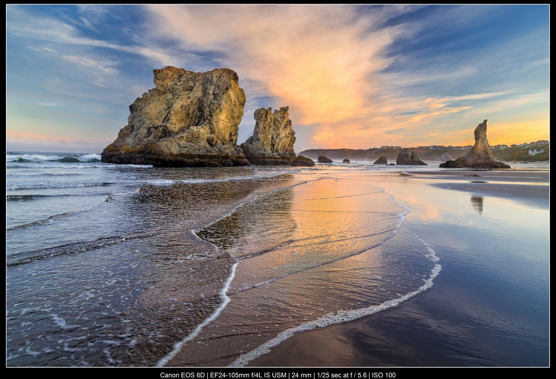 paisagem marinha colorida