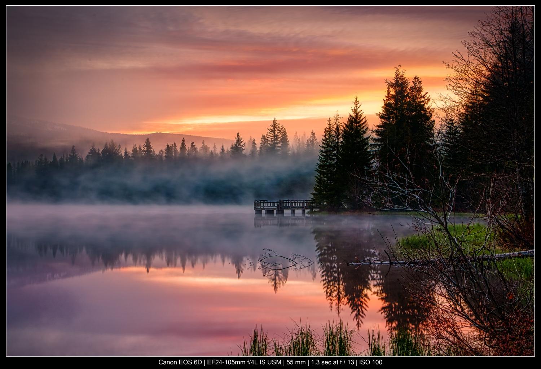 lago para fotografia de paisagem colorida