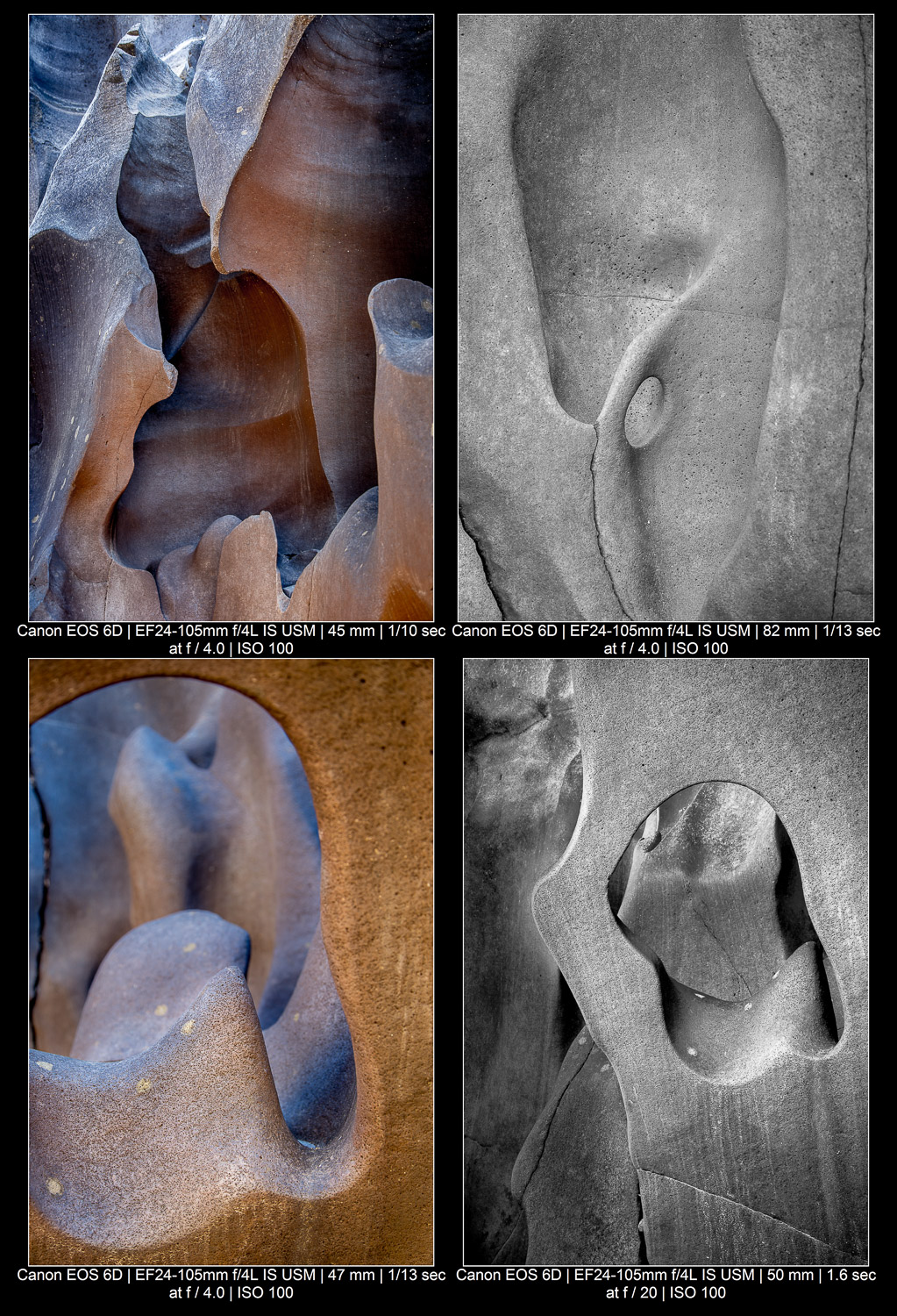 abstract compositions of rock sculptures