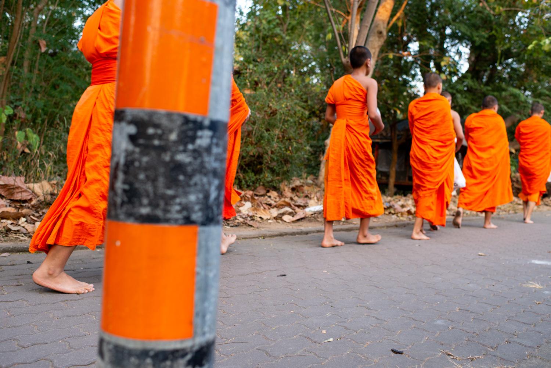 photo essay idea monks walking