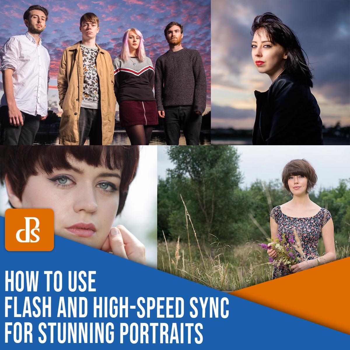 como usar flash e sincronização de alta velocidade para retratos impressionantes