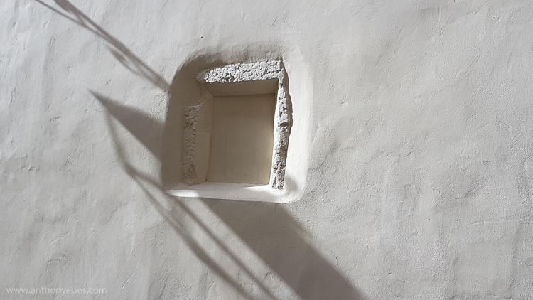 shadows on a window