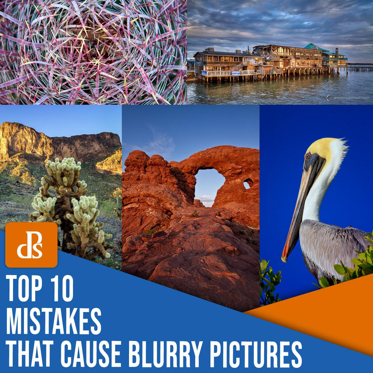 Os 10 principais erros que causam imagens borradas