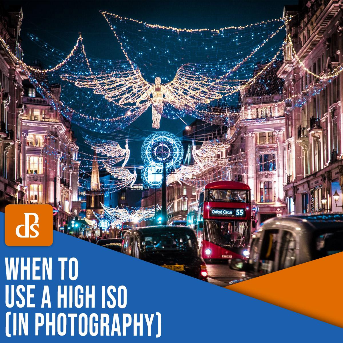 quando usar ISO alto em fotografia