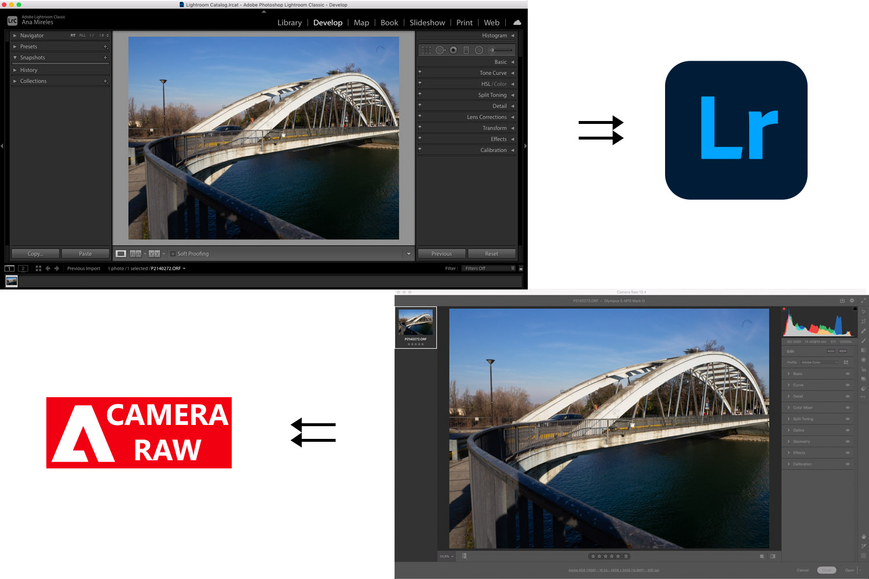 Lightroom vs Camera Raw overview