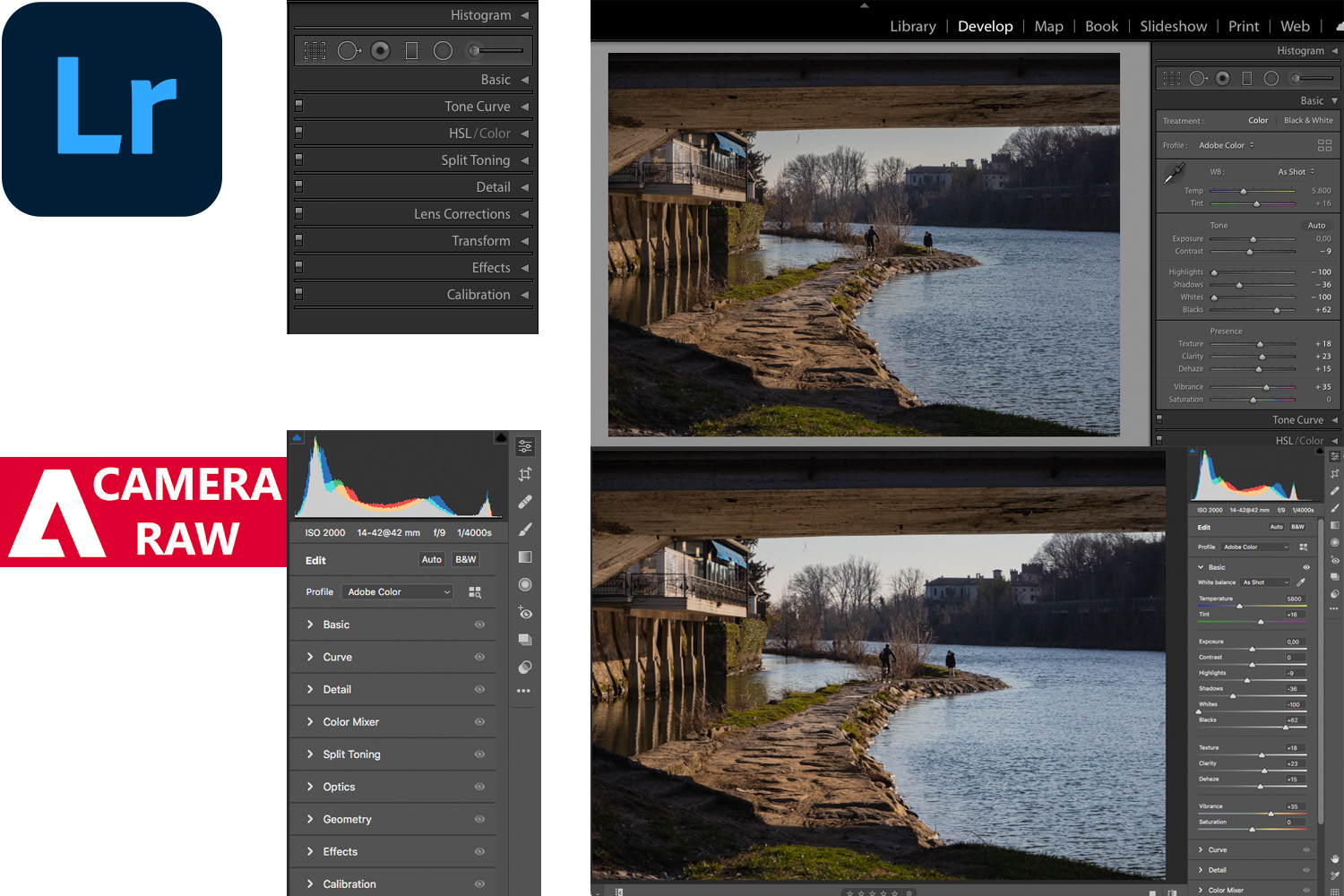 ACR and Lightroom editing options