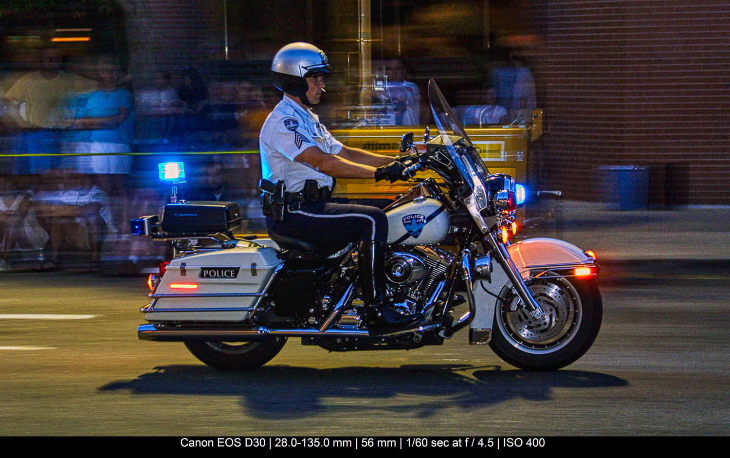 police officer riding a motorbike