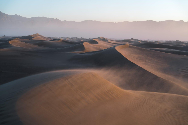 deep depth of field sand dunes