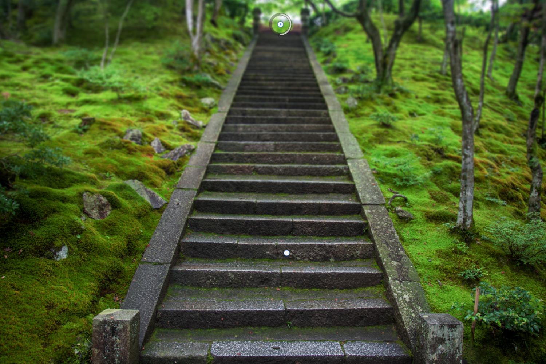 Blur the background in Photoshop Field Blur Stairs pins