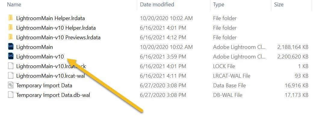 see your catalog folder
