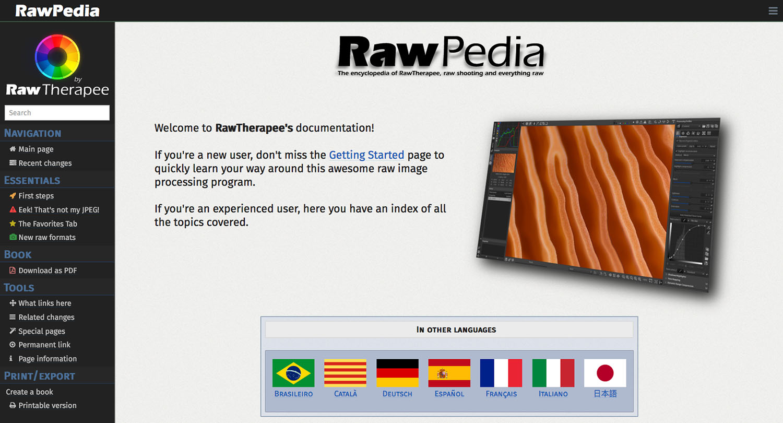 RawPedia tutorials