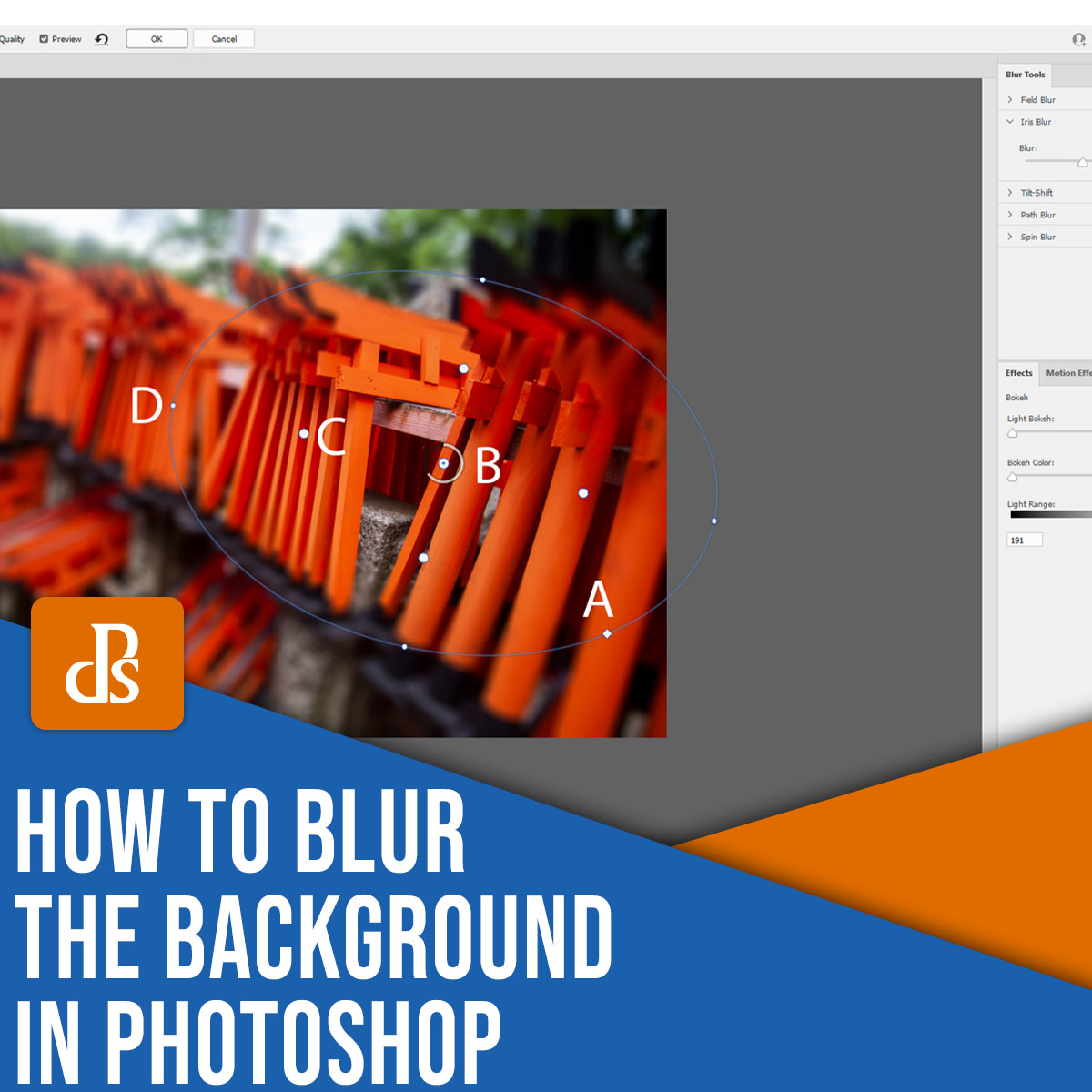 how to blur the background in Photoshop