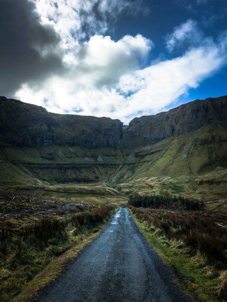 path leading toward mountains