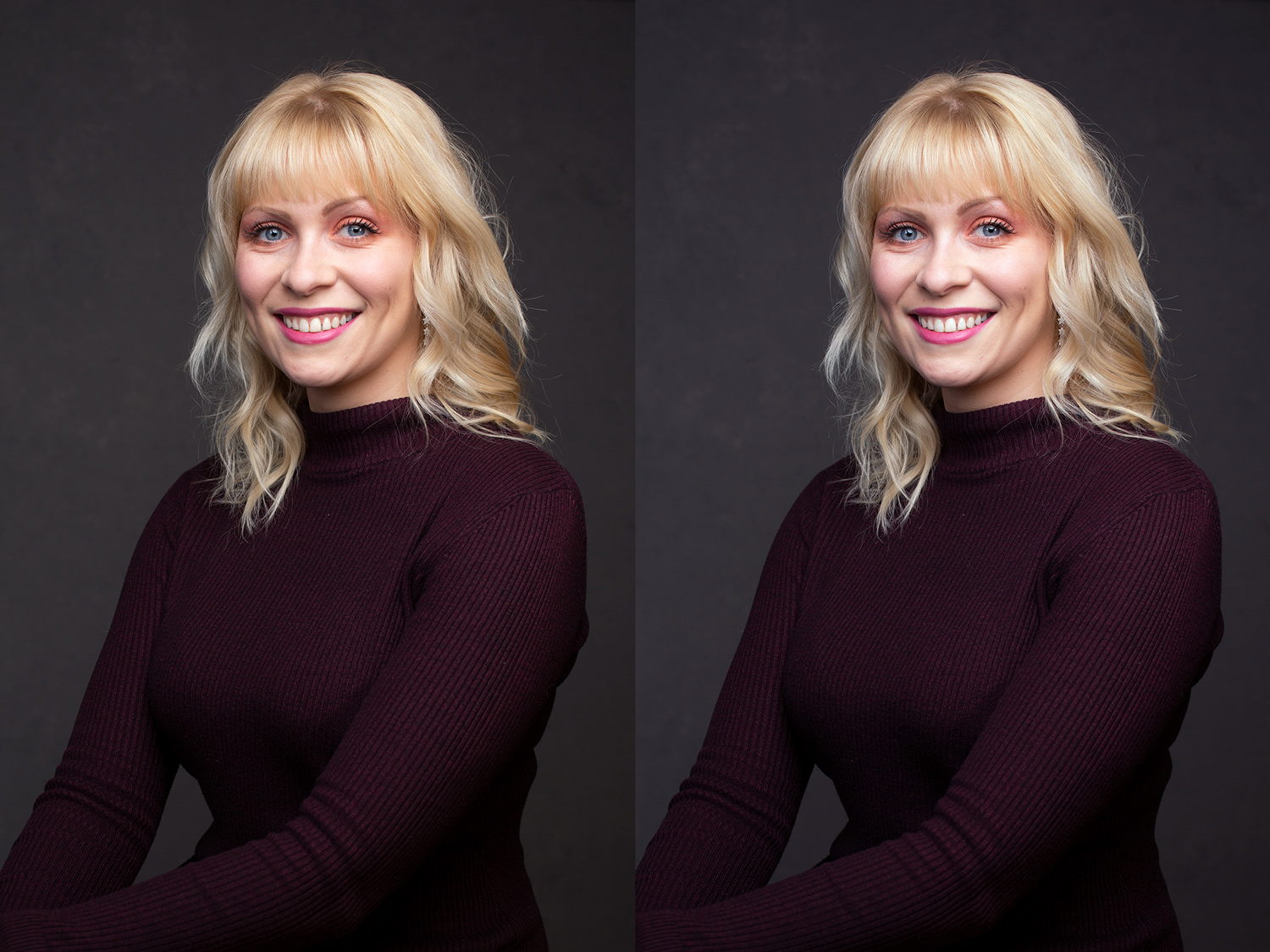 before and after Photoshop Color Balance