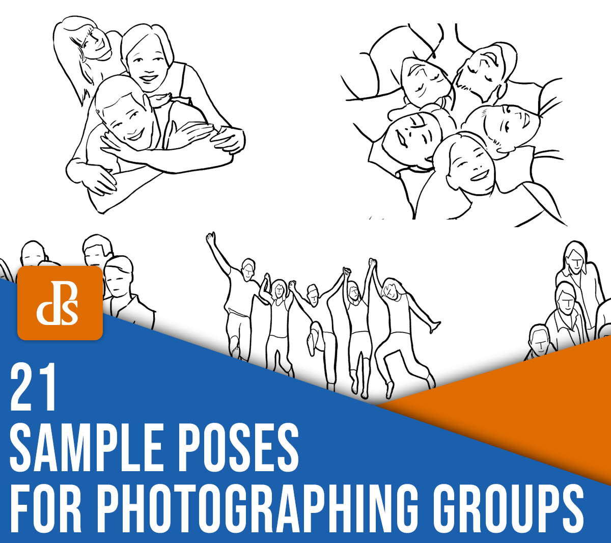21 sample poses for photographing groups