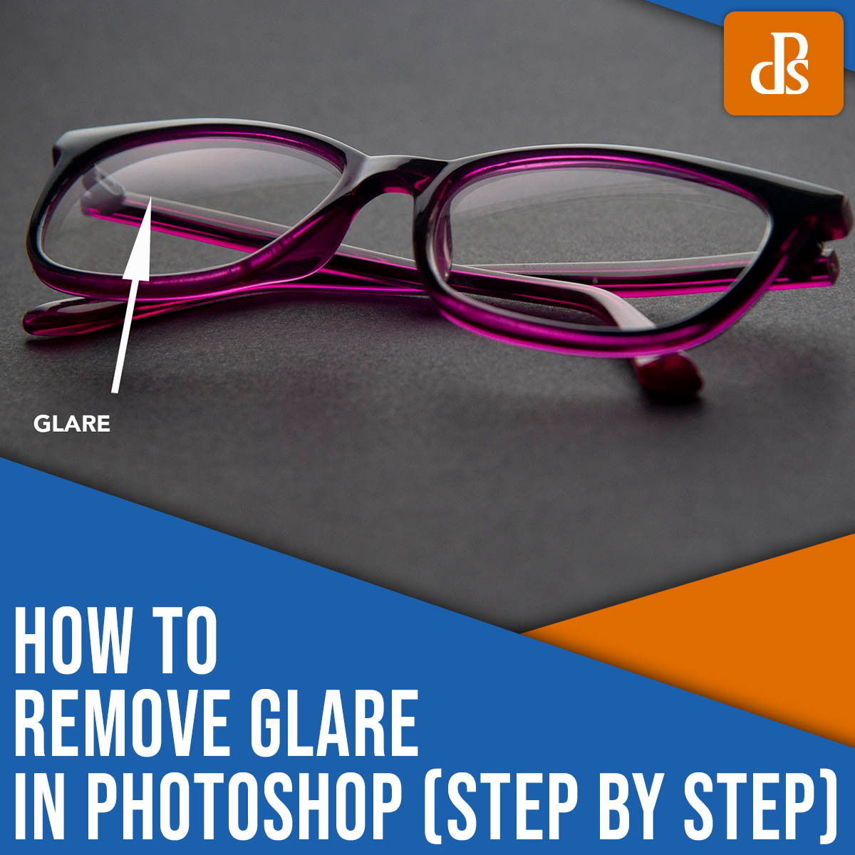 how to remove glare in Photoshop