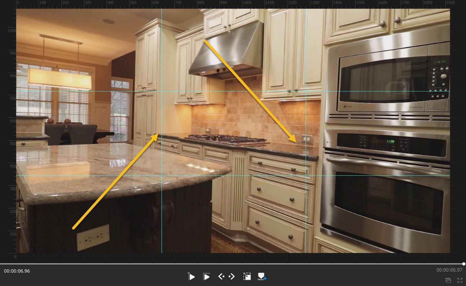 real estate videography with rule of thirds