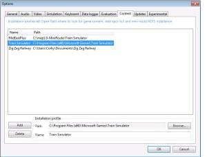Open Rails installation profiles
