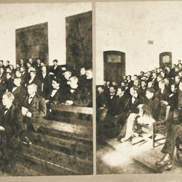 "Lovell, John L., 1825-1903, ""Classroom scene at Amherst College,"" Digital Amherst, accessed July 25, 2017, http://www.digitalamherst.org/items/show/600."