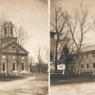 "Lovell, John L., 1825-1903, ""Old village church meetinghouse,"" Digital Amherst, accessed June 16, 2017, http://www.digitalamherst.org/items/show/584."