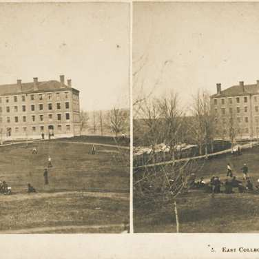 "Lovell, John L., 1825-1903, ""East College dormitory at Amherst College,"" Digital Amherst, accessed July 11, 2017, http://www.digitalamherst.org/items/show/582."