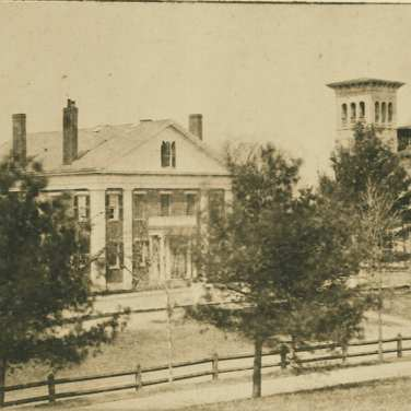 "Lovell, John L., 1825-1903, ""President's House and Morgan Library at Amherst College,"" Digital Amherst, accessed July 25, 2017, http://www.digitalamherst.org/items/show/224."