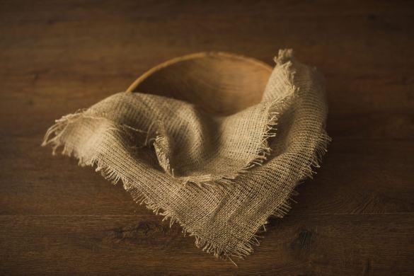 15.newborn Burlap Blanket