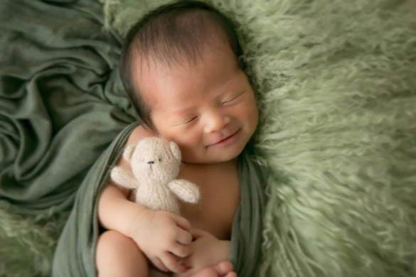 24. Newborn Knit Teddy