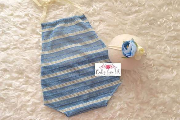 70.newborn Romper And Headband Set
