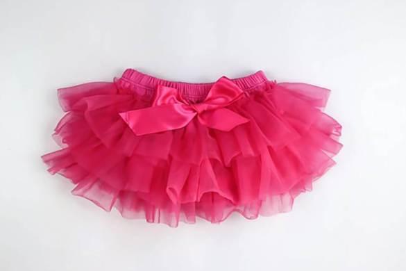 98. Newborn Pink Tutu Skirt (2)