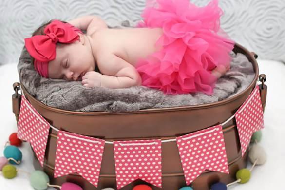 98. Newborn Pink Tutu Skirt